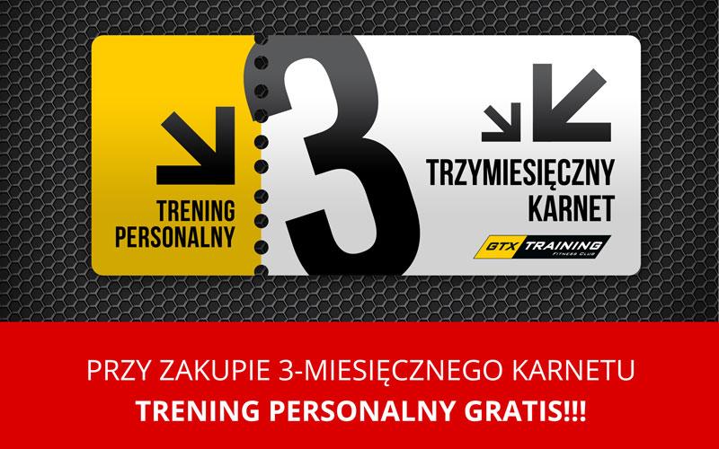 Trening personalny gratis!